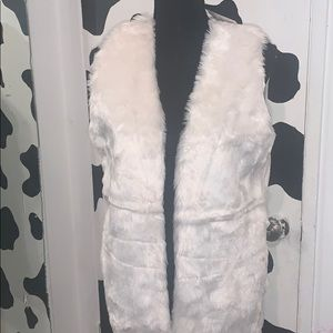 Brand new ladies furry vest size large